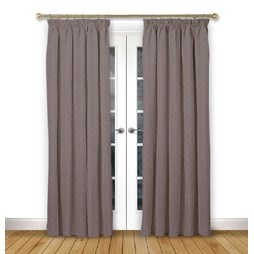Cosmos Mulberry Pencil Pleat Curtains
