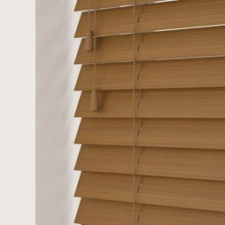 Amber Wood Grain Faux Wood Venetian Blind