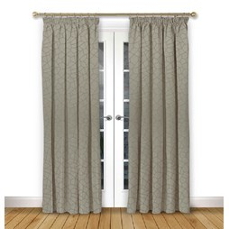 Glacier Driftwood Pencil Pleat Curtains