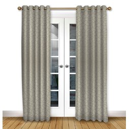 Glacier Driftwood Eyelet Curtains