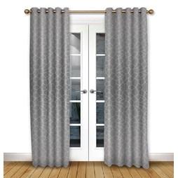 Glacier Flint Eyelet Curtains