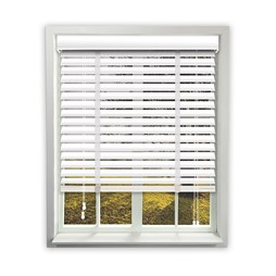 Sunwood Wooden Venetian - Gloss White - 1125mm x 965mm
