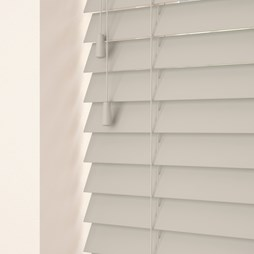 Mallow Pale Grey Wooden Venetian Blind