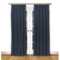 Mistral Ink Pencil Pleat Curtains