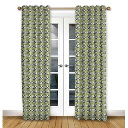 Moo Moo Kiwi Eyelet Curtains