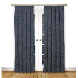 Serenity Ink Pencil Pleat Curtains