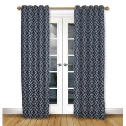 Stratus Ink Eyelet Curtains