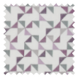 Prism Violet pencil pleat curtains