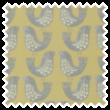 Scandi Birds Mustard eyelet curtain