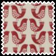 Scandi Birds Scarlet eyelet curtain