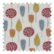Scandi Trees pencil pleat curtain