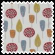 Scandi Trees pencil pleat curtain
