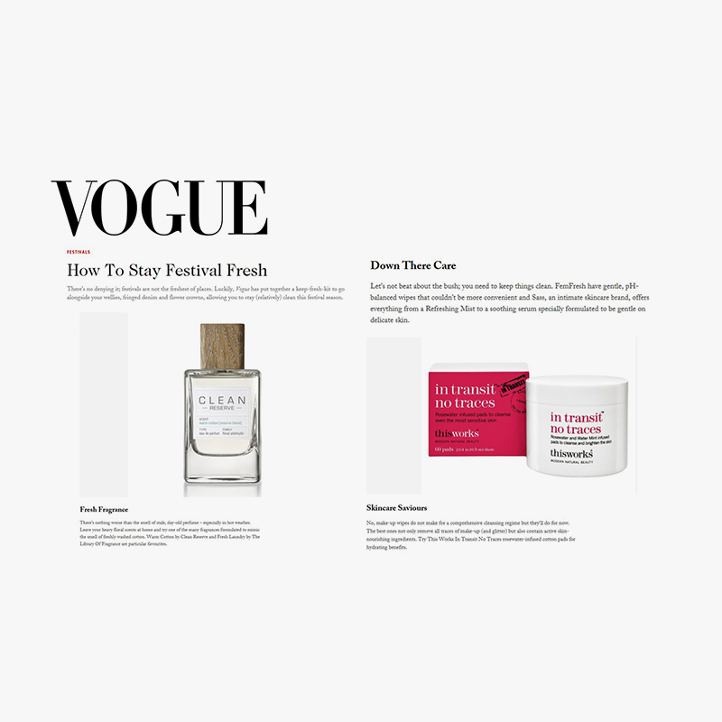 Vogue femfresh coverage completed