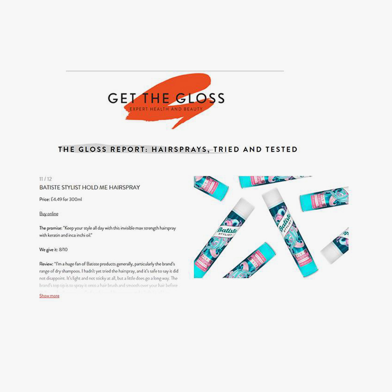 Get the gloss. batiste. online. aug 2017. completed