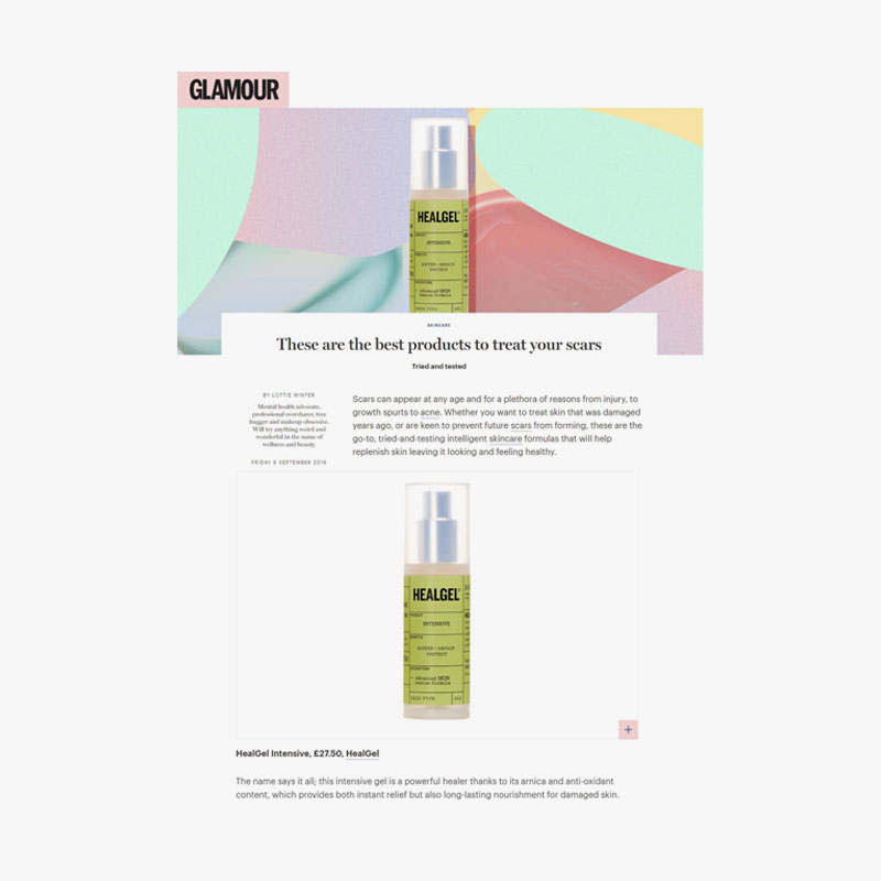 Healgel  glamour  6 september '19