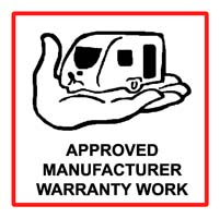 CARAVAN MANUFACTURER WARRANTY WORK UNDERTAKEN