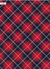 10m (2x5m) Christmas Gift Wrapping Paper - Red Blue and Gold Tartan