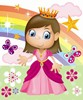 Fairy Princess Rainbow Castle Birthday Wrapping Paper - 1 Sheet & 1 Matching Tag