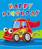 Boy's Bright Trucks and Cars Wrapping Paper - 1 Sheet & Matching Gift Tag