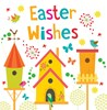Pack Of 6 Square Easter Greetings Cards - 2 Designs - Coloured Eggs & Bird House