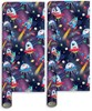 10m (2 x 5m) Children's Christmas Gift Wrapping Paper - Santa & Friends in Space
