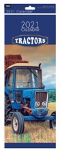2021 Slim Month To View Spiral Bound Travel Photo Wall Calendar - Tractors