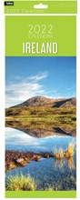 2022 Slim Month To View Spiral Ireland Wall Calendar - Mountain Scene on Front