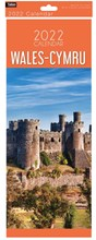 2022 Slim Month To View Spiral Wales Cymru Wall Calendar - Conwy Castle on Front