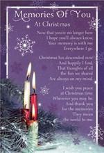 """Loving Memory Christmas Graveside Memorial Card - Memories Of You 6.25"""" x 4.25"""""""
