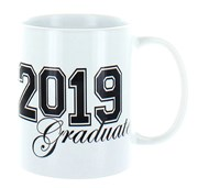 2020 Graduate White 11oz Ceramic Mug In Gift Box - Black Text & Bold Numbers