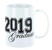 2020 Graduate White 11oz Ceramic Mug In Gift Box - Black Text & Bold Numbers