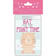 Pack Of 30 Pink Baby Girl Memorable Moments Milestone Keepsake Cards