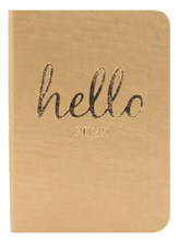 2020 Small Pocket PU Soft Week To View Diary - Gold with Foil Edges