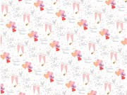 Mr & Mrs Wedding Day Wrapping Paper - Champagne Flutes 1 Sheet & 1 Matching Tag