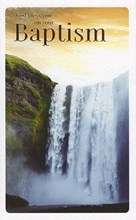 """ICG On Your Baptism Greetings Card - Bright Sunrise & Waterfall 7.75"""" x 4.75"""""""
