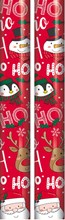 10m (2 x 5m) Children's Christmas Gift Wrapping Paper - Red Santa Friends Ho Ho