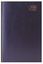 2020 A5 Week To View Casebound Hardback Appointment Diary with Times - Blue
