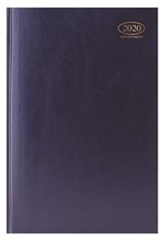 2020 A4 Week To View Casebound Hardback Appointment Diary with Times - Blue