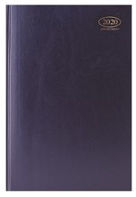 2020 A4 Page A Day Case bound Hardback Appointment Desk Diary with Times - Blue