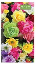 2022 Slim Pocket 2 Week To View Soft back Floral Diary - Bright Flowers