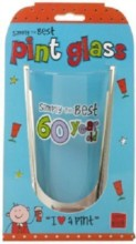 """Simply The Best 60 Year Old Male Beer Pint Glass 6.25"""" - 60th Birthday Gift"""