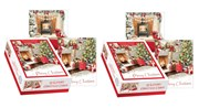 2 x Box Of 20 Slim Scenic Luxury Christmas Cards - 2 Designs - Tractor & Tree
