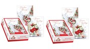 2 x Box Of 24 Modern Luxury Christmas Cards - 2 Designs Per Pack - Red Gold Tree