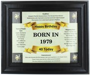 2020 40 Today Happy Birthday Print & Black Photo Frame - 1980 Was A Special Year