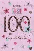 2021 100th Female Birthday Card - 1921 Was A Special Year - Age 100