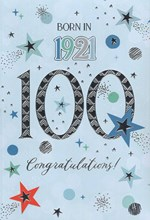2021 100th Male Birthday Card - 1921 Was A Special Year - Age 100