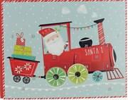 "Christmas Advent Calendar - Santa Claus in Train with Presents 9.75"" x 8"""