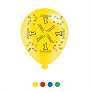 Pack Of 8 Multicoloured 1st Birthday Air Fill or Helium Party Balloons - 1 Today