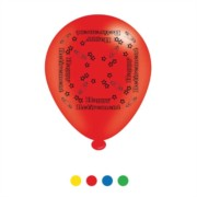 Pack Of 8 Multicoloured Happy Retirement Latex Party Balloons - Air Fill/Helium