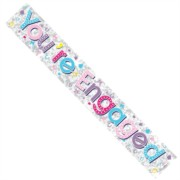 Engagement Silver Foil Party Banner - Multicoloured You're Engaged